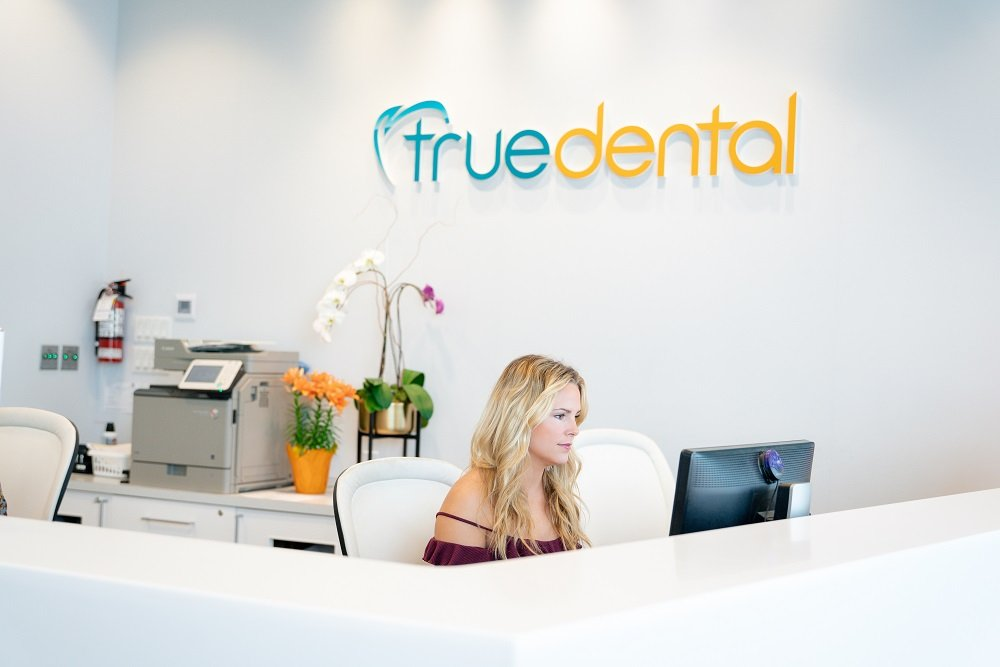 True Dental dentist reception