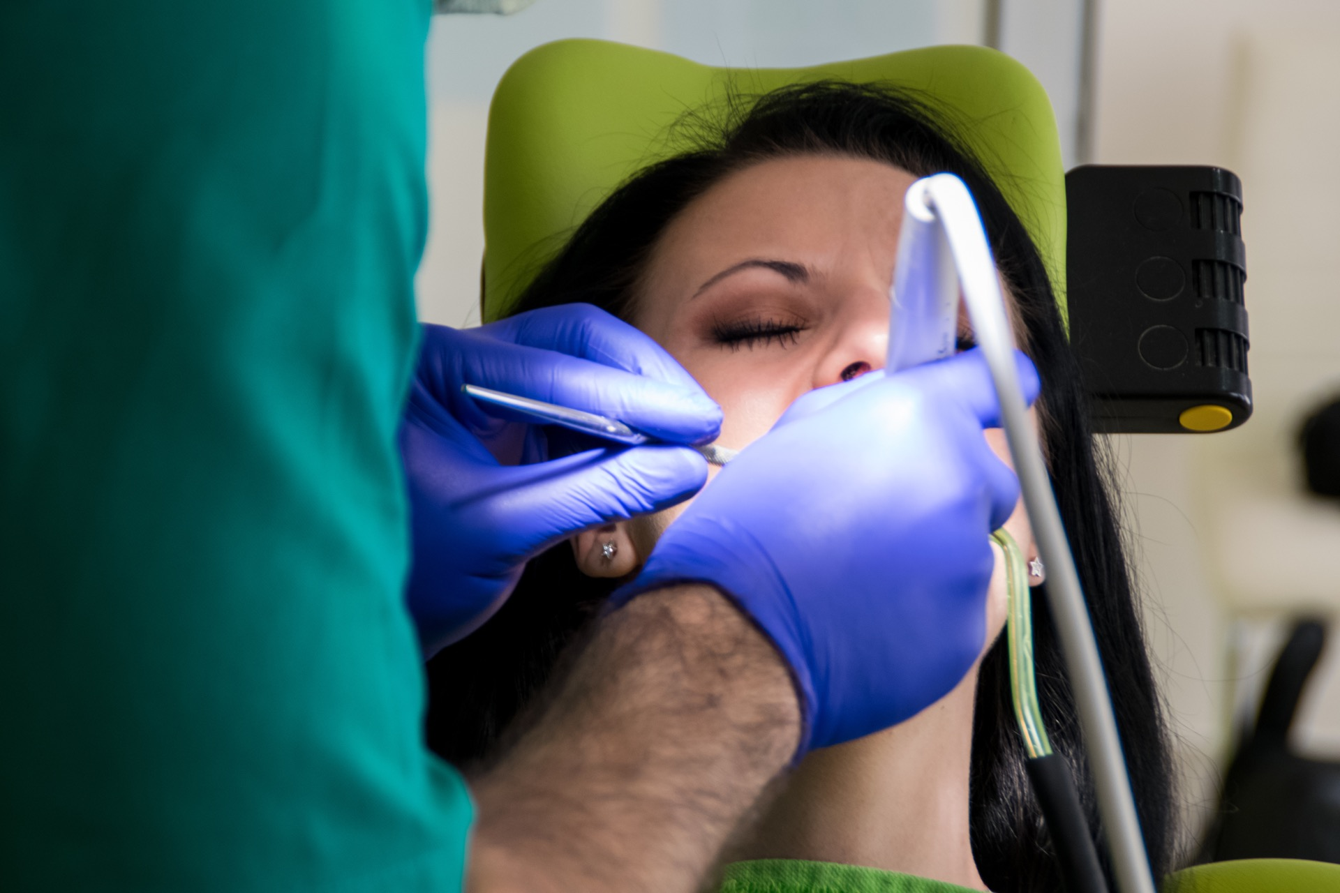 Young woman getting sleep dentistry